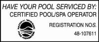 Certified Pool / Spa Operator
